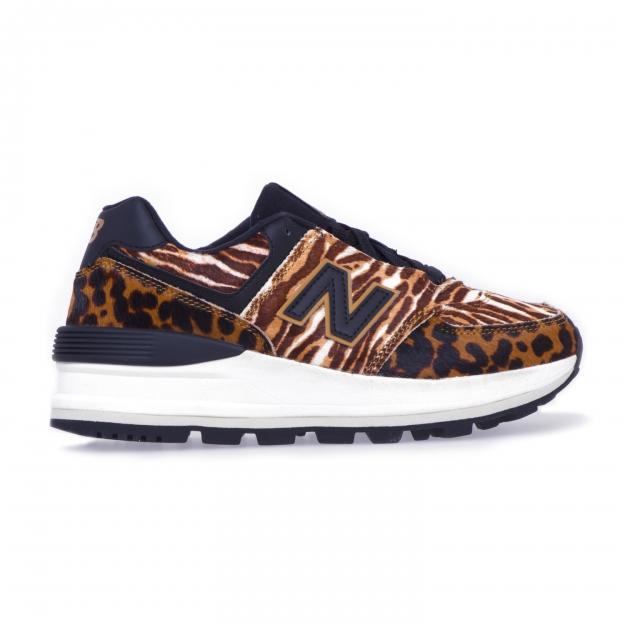 New Balance 574 sneaker in spotted pony skin Leopard 36.5