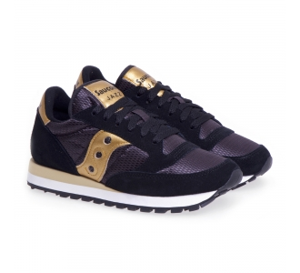 Sneaker Saucony Jazz in tessuto e camoscio  Nero - Oro