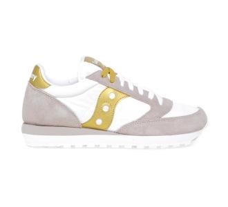 Sneaker Saucony Jazz in tessuto e camoscio  Bianco - Oro