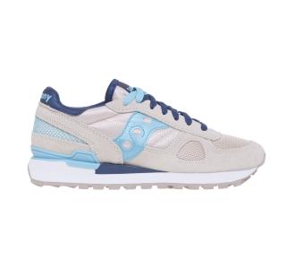 Sneaker Saucony Shadow in camoscio e tessuto Gesso - Azzurro