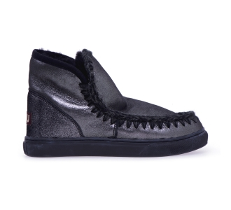 Stivaletto MOU Eskimo Sneaker in microglitter Antracite