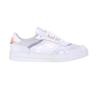 Sneaker Crime London in pelle e camoscio Bianco