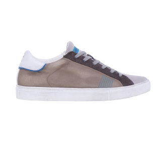 Sneaker crime london in tessuto effetto jeans Beige