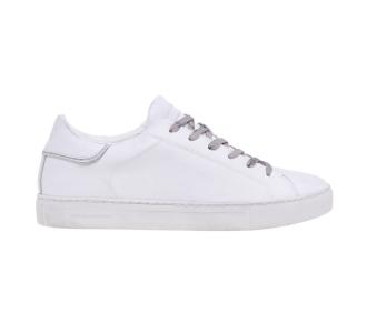 Sneaker Crime London in pelle effetto vintage Bianco
