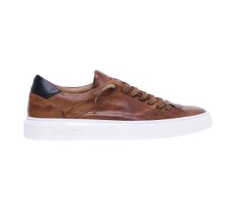 Sneaker Pawelk's in pelle con lacci semicoperti Cognac