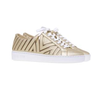 Sneaker Michael Kors in pelle satinata e lucida Oro
