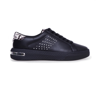 "Sneaker michael kors ""codie lacie up"" in pelle  Nero"