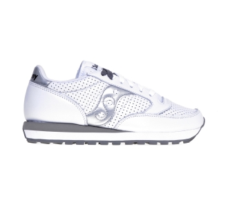 Sneaker Saucony Jazz in pelle microforata Bianco - Argento