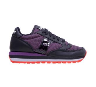 Sneaker Saucony Jazz Triple in pelle e tessuto tecnico  Nero - Prugna