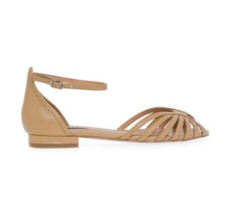 Sandalo flat Bibi Lou in pelle Camel