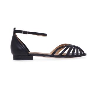 Sandalo flat Bibi Lou in pelle Nero