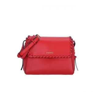 Borsa LIU JO a tracolla con cuciture True Red