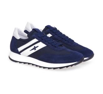 Sneaker Paciotti 4US in camoscio e tessuto Blu