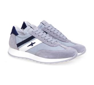 Sneaker Paciotti 4US in camoscio e tessuto Grigio