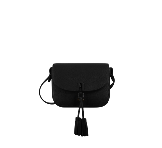 "Tracolla ""furla 1927 mini crossboby 17"" in pelle con nappine  Nero"