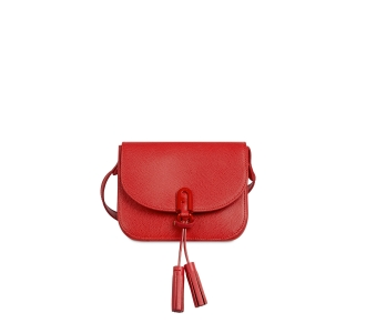 "Tracolla ""furla 1927 mini crossboby 17"" in pelle con nappine  Ruby (rosso)"