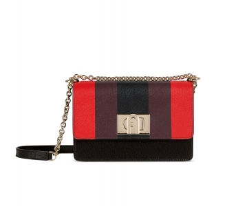 Furla 1927 mini crossbody 20 Fuoco + Burgundy + Nero