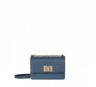 Furla 1927 mini crossbody 20  Blu Denim