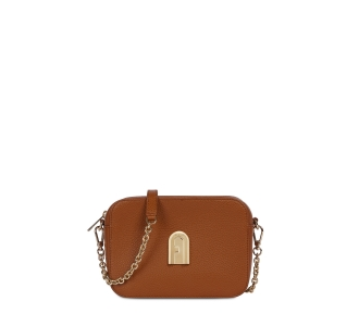 "Tracolla ""furla sleek mini camera case"" in pelle  Cognac"