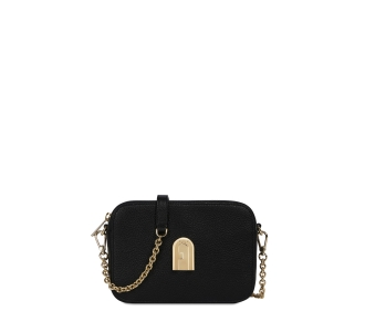 "Tracolla ""furla sleek mini camera case"" in pelle  Nero"