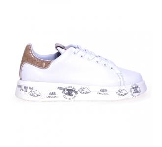 """Sneaker Premiata """"Belle"""" in pelle Bianco"""