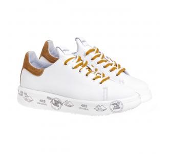 Sneaker Premiata Belle in pelle Bianco