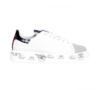 Sneaker Premiata Belle in pelle Bianco - Beige