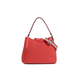 "BORSA IN PELLE GIANNI CHIARINI ""CHLORIS"" Queen Red - Cuoio"