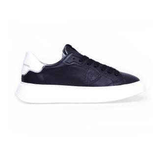 """Sneaker philippe model """"temple veau"""" in pelle con suola oversize  Nero"""