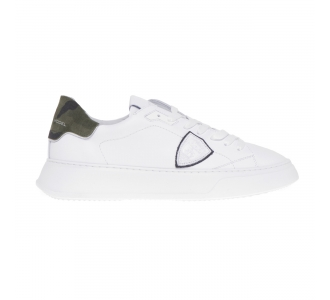Philippe Model Temple Veau sneaker in leather Weiss