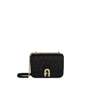 "Tracolla ""Furla Cosy Mini Shoulder Bag"" in nappa trapuntata  Nero"