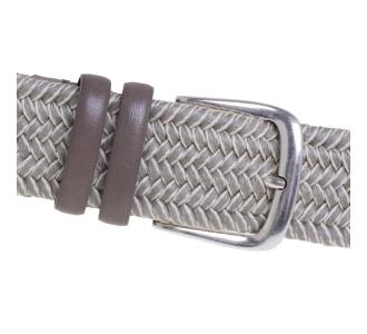 Cintura intrecciata Gavazzeni in cotone cerato  Beige