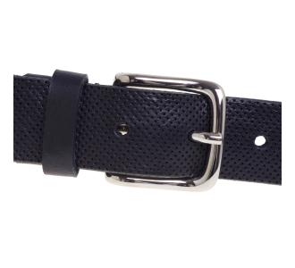 Cintura Gavazzeni in pelle forata Blu