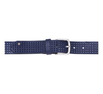 Cintura Gavazzeni in camoscio forato Blu