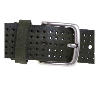 Cintura Gavazzeni in camoscio forato Verde