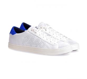 Sneaker P448 in nappa con dettagli in camoscio  Cream