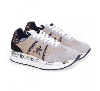 Sneaker Premiata Conny in tessuto e camoscio  Beige