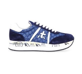 Sneaker Premiata Conny in camoscio e tessuto Blu