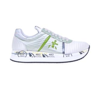 """Sneaker premiata """"conny"""" in tessuto lucido effetto rigato Verde"""