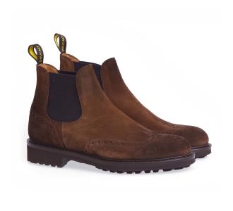 Chelsea Boot Doucal's in camoscio con lavorazione stile inglese Marrone