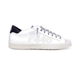 Sneaker p448 in pelle con talloncino a contrasto White - Black
