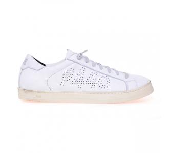 """Sneaker P448 """"John"""" in pelle Bianco"""