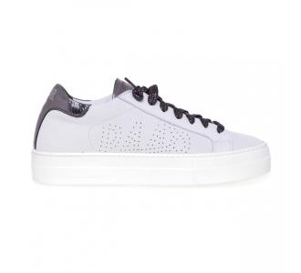 """Sneaker P448 """"Thea"""" in pelle  Bianco"""