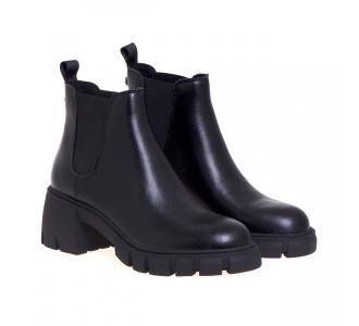 Chelsea boot Steve Madden in pelle con tacco 50 mm Nero