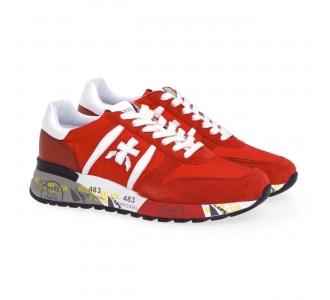 Sneaker Premiata Lander in camoscio e tessuto Rosso