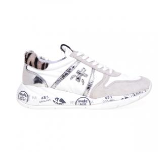 Sneaker Premiata Layla in tessuto e camoscio  Bianco