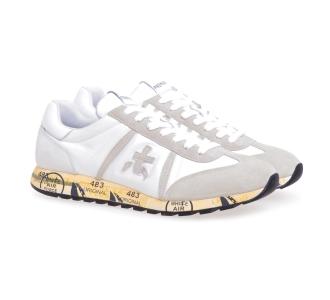 Sneaker Premiata Lucy in camoscio e tessuto Bianco - Beige