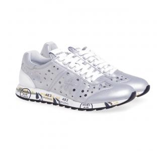 Sneaker Premiata Lucy in tessuto tecnico forato Argento