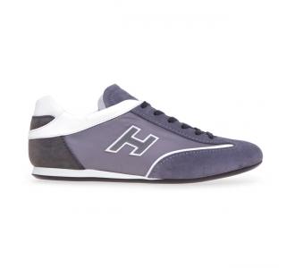 Sneaker Hogan Olympia in camoscio e tessuto  Grigio