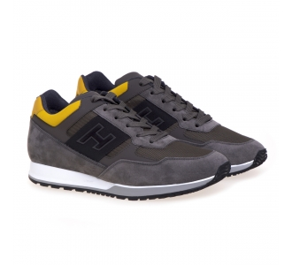 Hogan H321 sneaker Grigio - Giallo